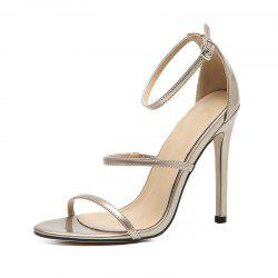 Women's Stiletto Sandals European Party High Heels Black -