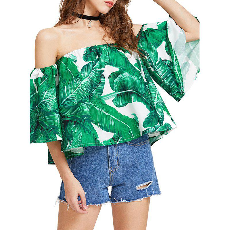 New Summer Printed One Shoulder Loose T-Shirt