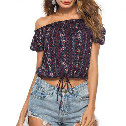 Summer Leisure Small Broken Beach Beach Shoulder Length T-Shirt -