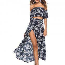 Casual Beach Dress Suit with Short Sleeves  Big Bandage Skirt -