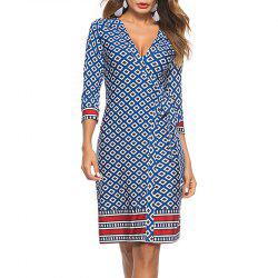 Casual Beach Skirt Printed with Split Fork Dress -