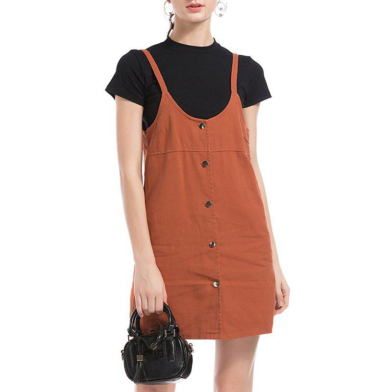Best Autumn Temperament of Cultivate One'S Morality Leisure Vest Dress