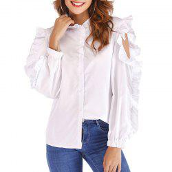 In The Fall of Cultivate One'S Morality Agaric Edge Dew Shoulder White Shirts -