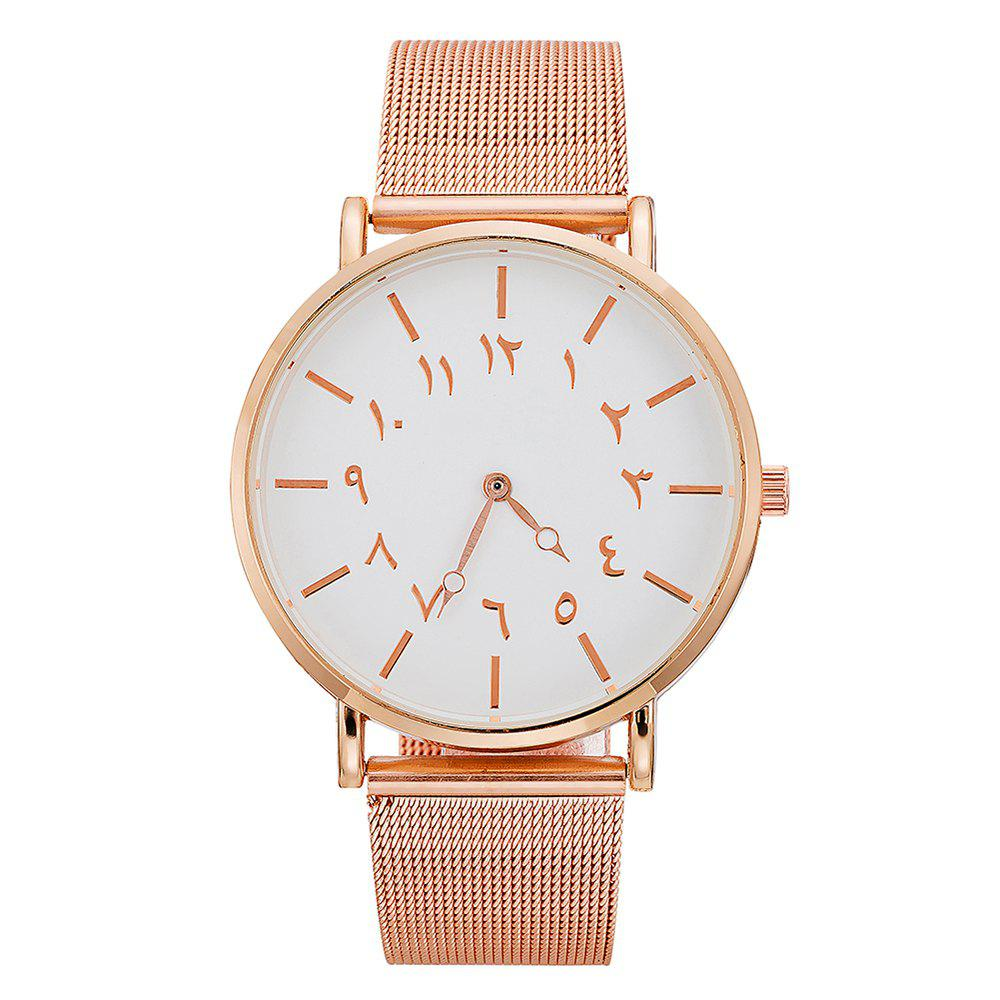 New Ladies Fashion Large Dial Watches Personality Mesh With Decorative Watches
