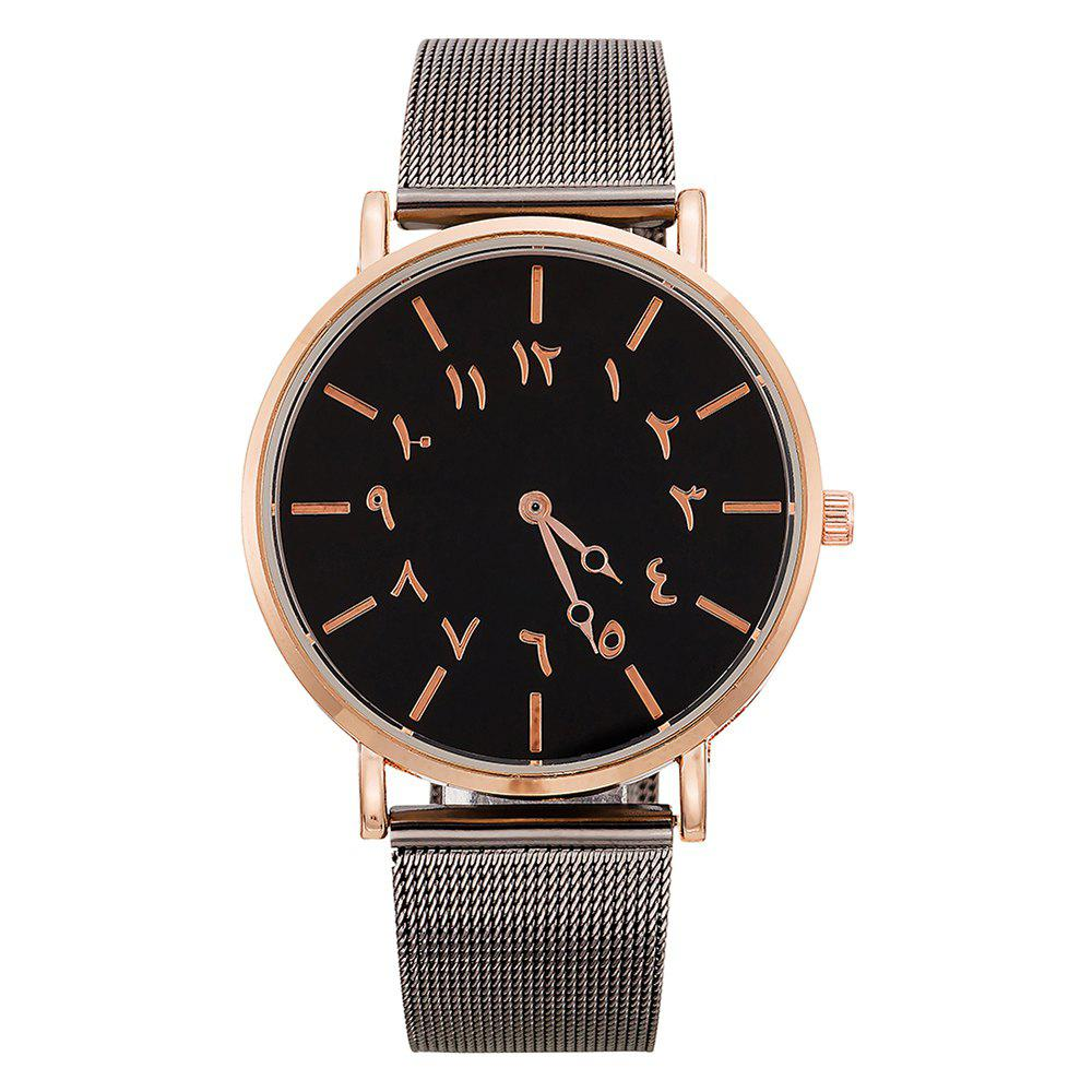 Best Ladies Fashion Large Dial Watches Personality Mesh With Decorative Watches