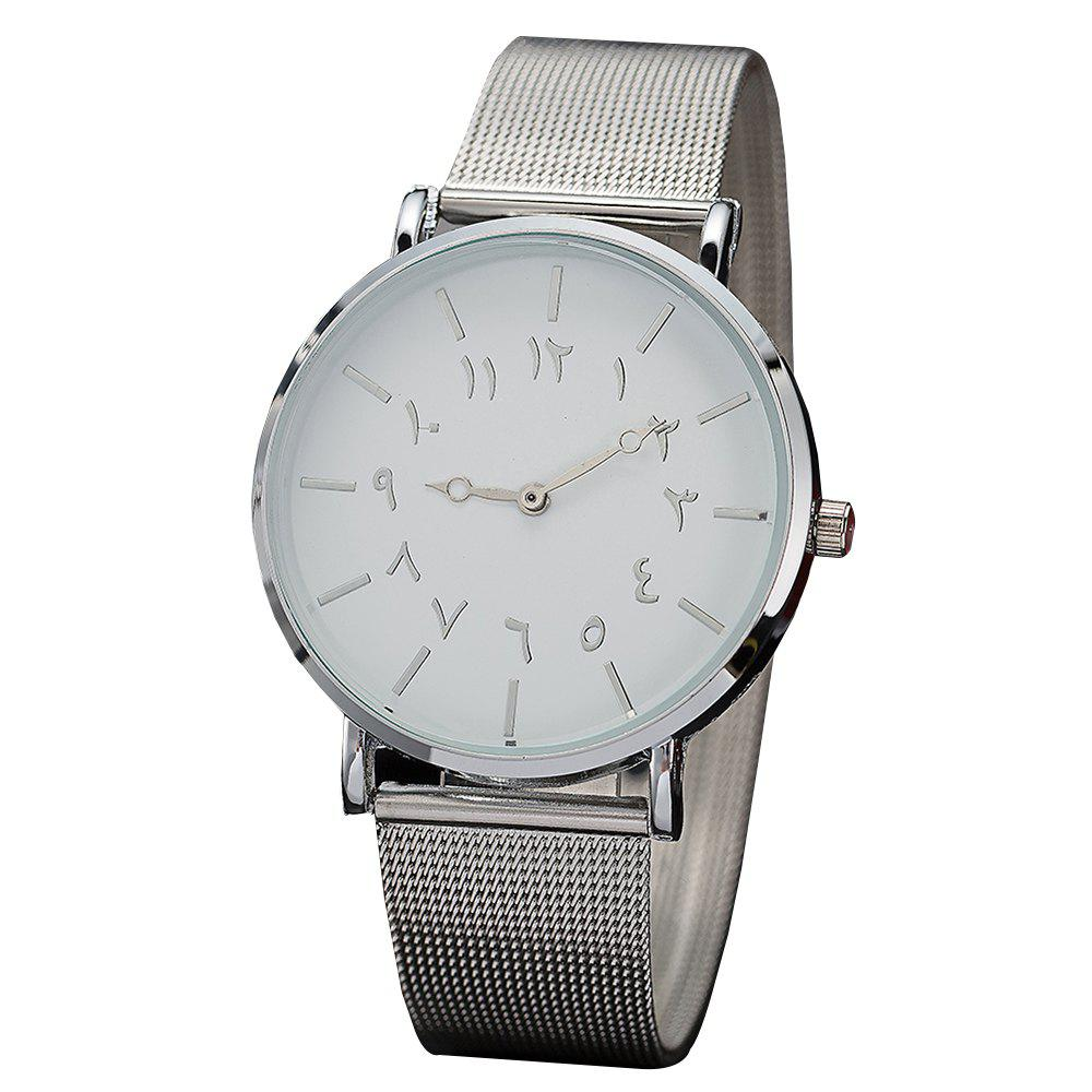 Chic Ladies Fashion Large Dial Watches Personality Mesh With Decorative Watches