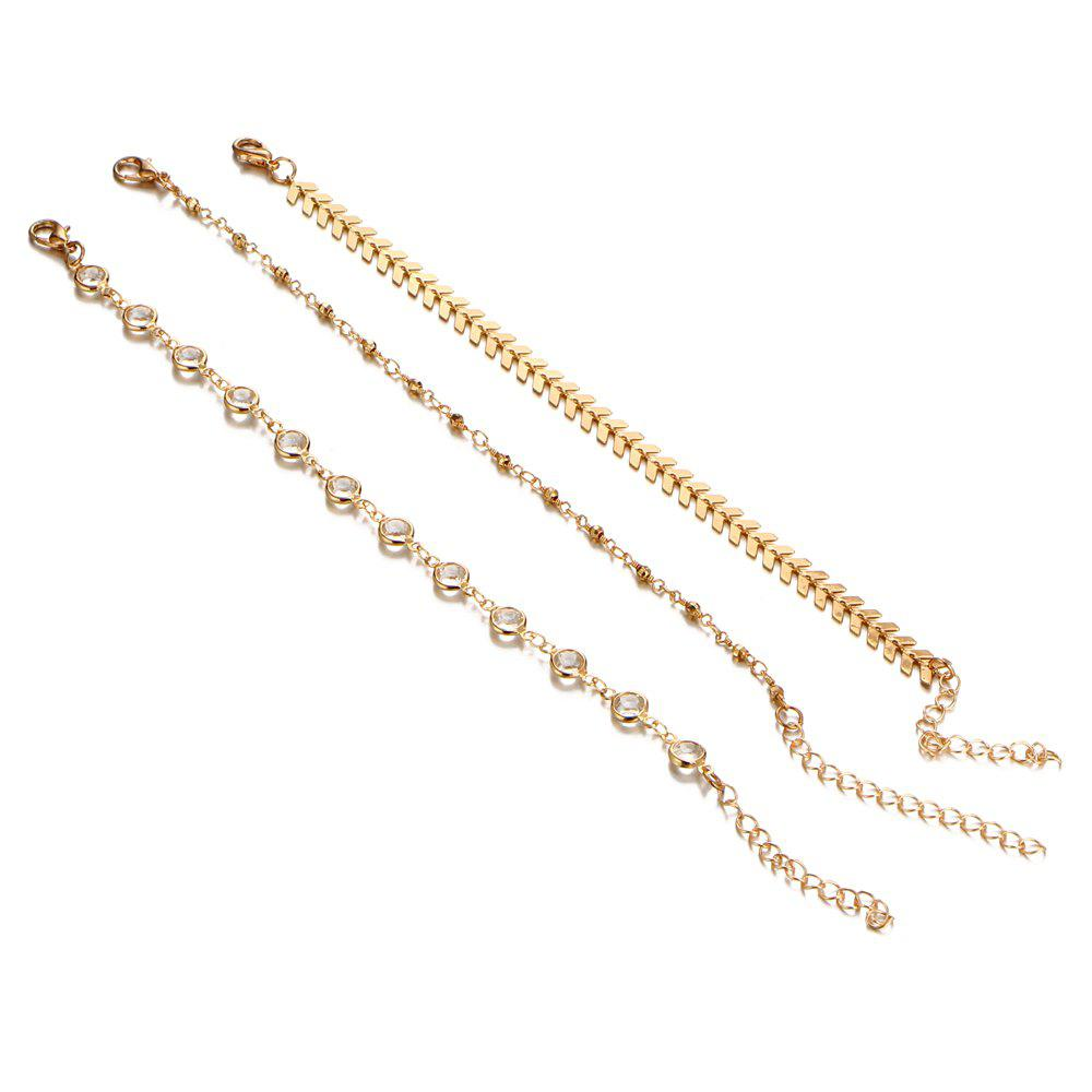 Store Crystal Sequins Anklet Set For Women Beach Foot jewelry