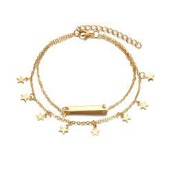 Multi Layer Star Pendant Anklet Foot Chain For Women -