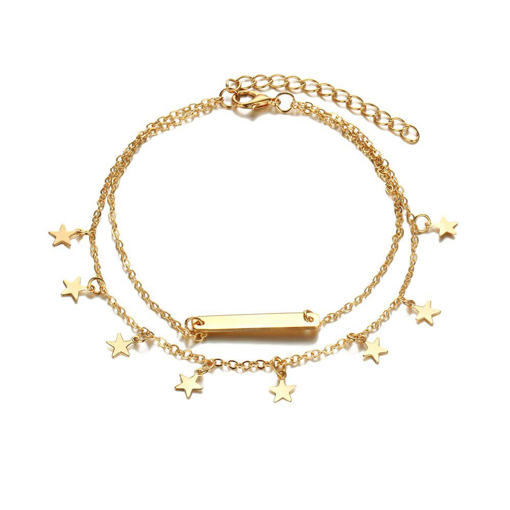 Buy Multi Layer Star Pendant Anklet Foot Chain For Women