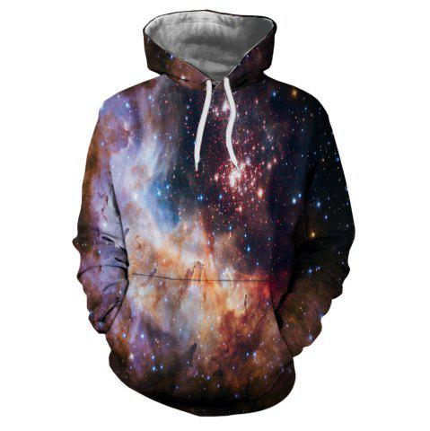 Fashion New 3D Printed Long-Sleeved Hooded Sweater