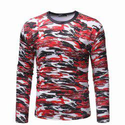 Pull camouflage occasionnel sauvage sauvage t-shirt à manches longues -