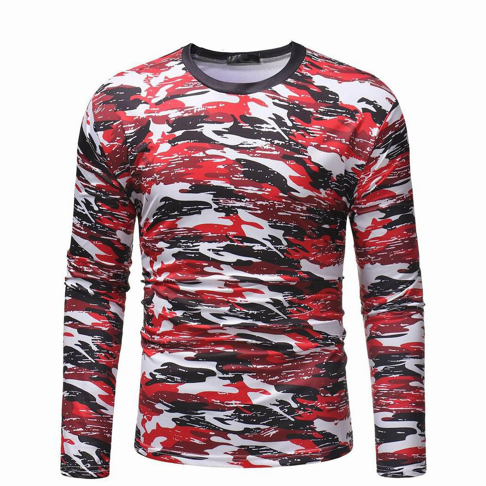 Pull camouflage occasionnel sauvage sauvage t-shirt à manches longues