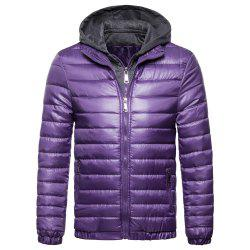 Man Cotton-Padded Clothes Leisure Time Thickened Hoodie Coat -