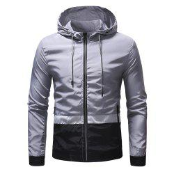 Men's Three-color Color Matching Casual Jacket Outdoor Climbing Jacket -