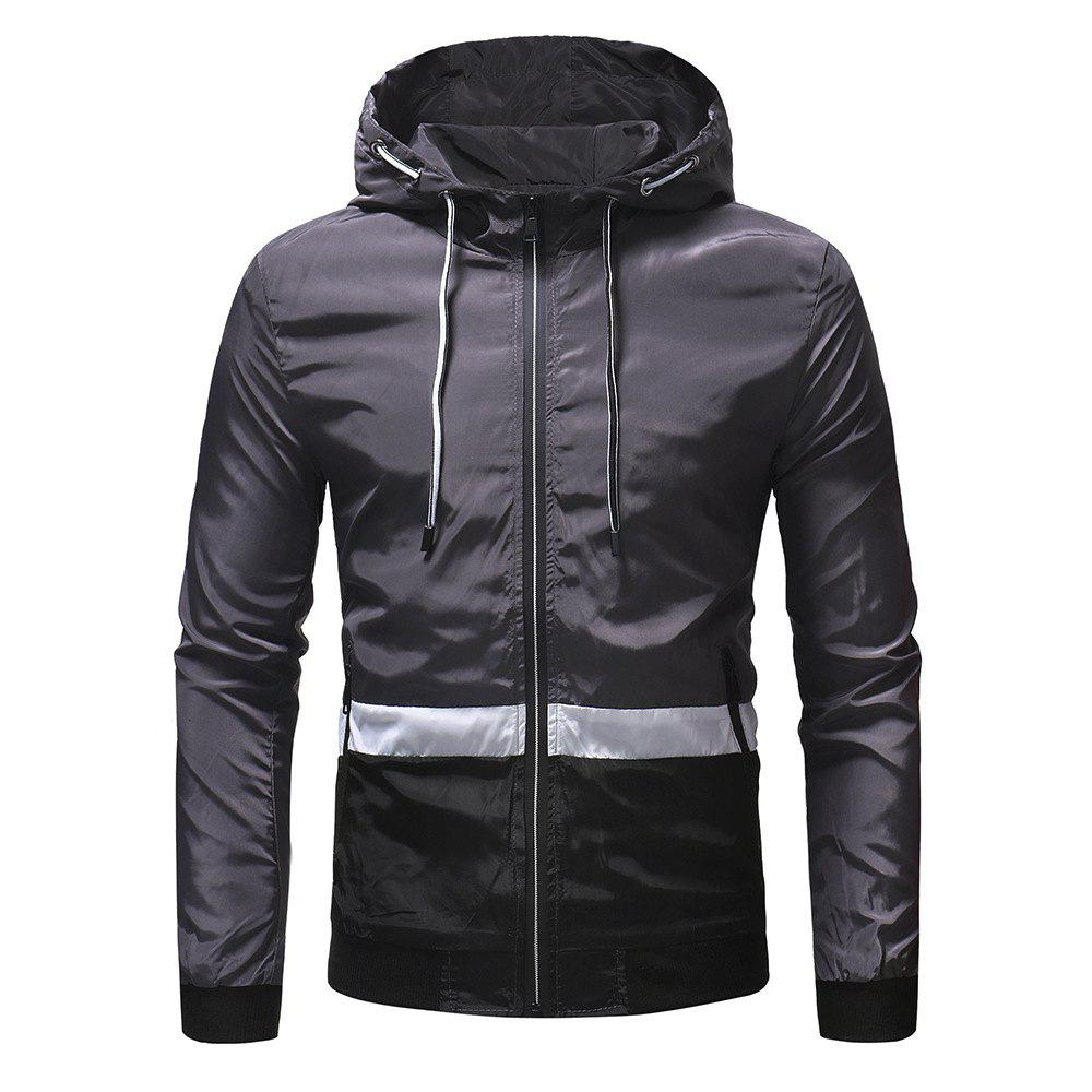 Hot Men's Three-color Color Matching Casual Jacket Outdoor Climbing Jacket