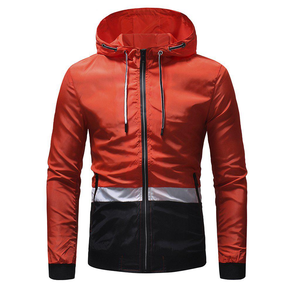 Fancy Men's Three-color Color Matching Casual Jacket Outdoor Climbing Jacket