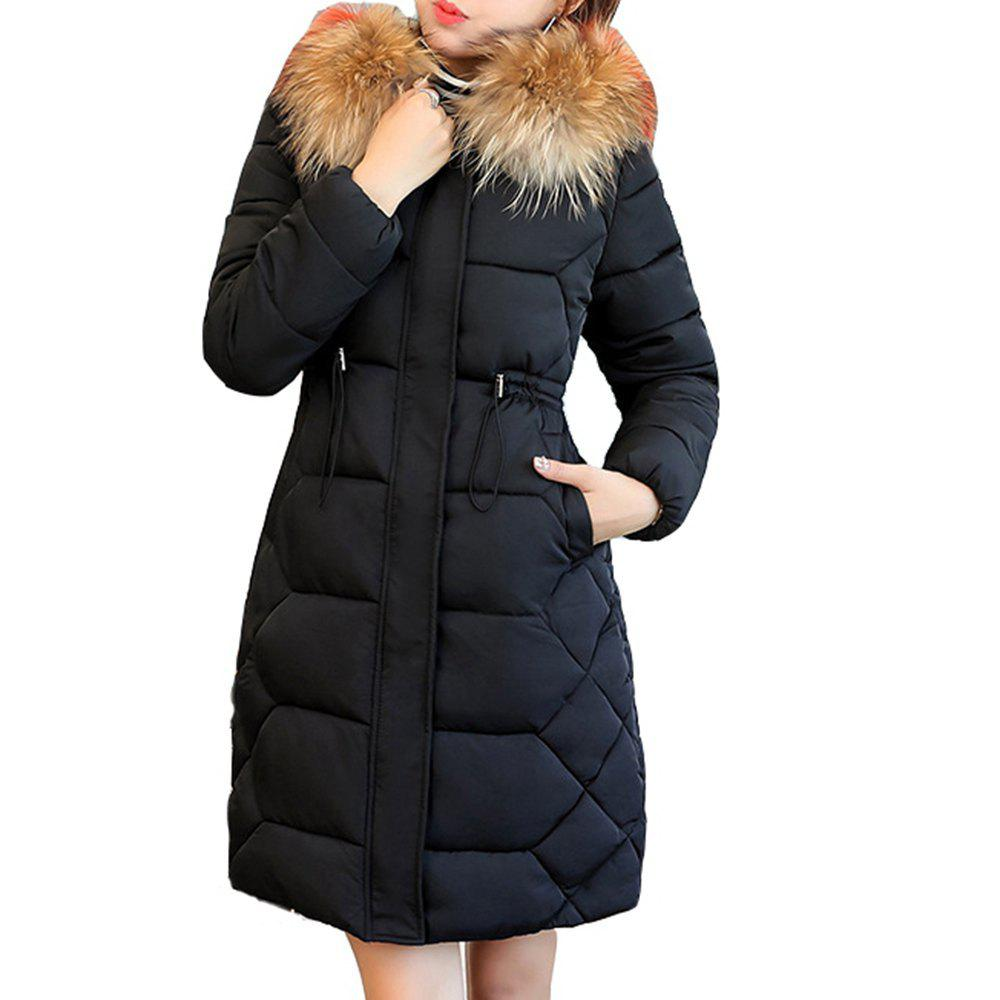 50 off fashion winter jacket with fur collar warm. Black Bedroom Furniture Sets. Home Design Ideas