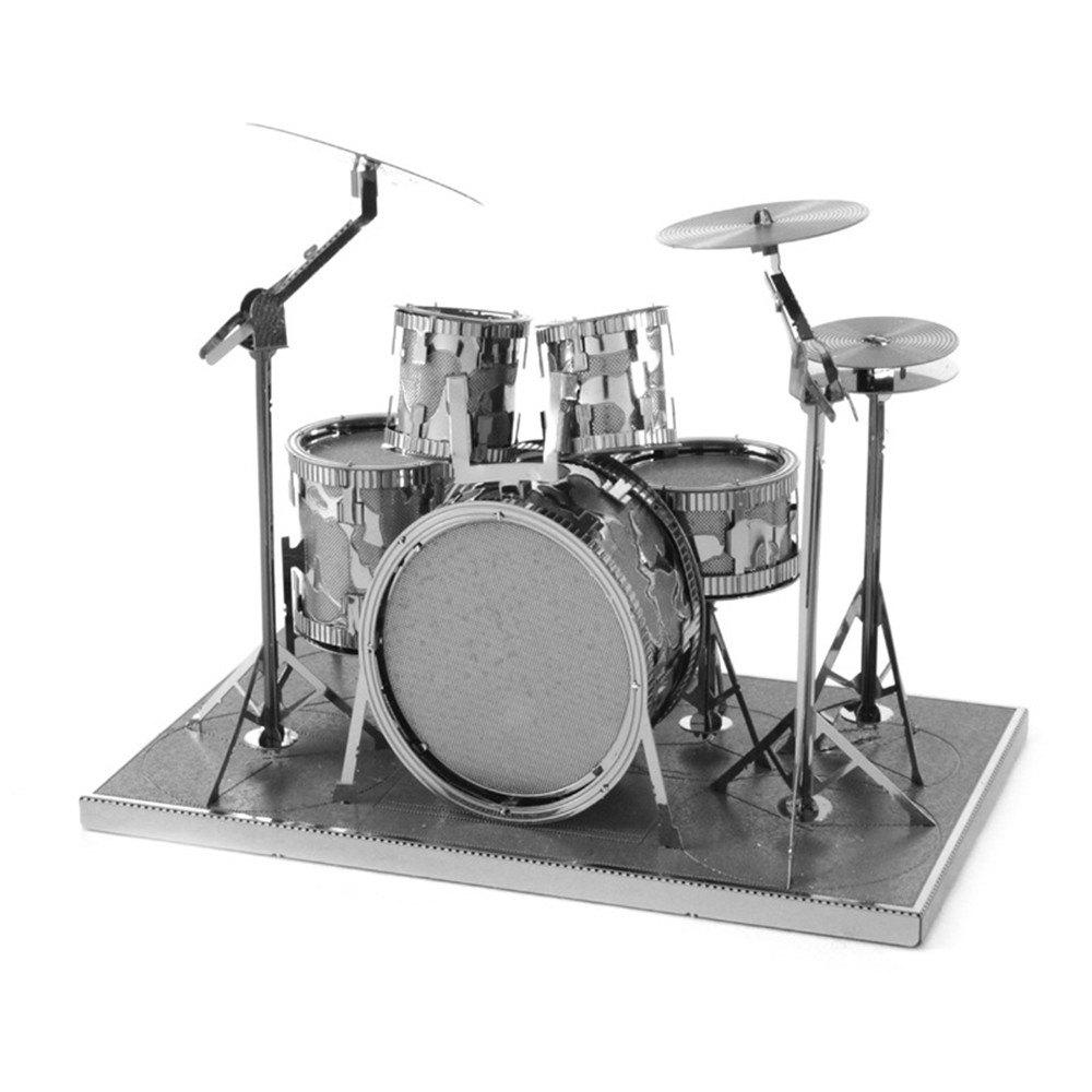 New Drum Set 3D Metal High-quality DIY Laser Cut Puzzles Jigsaw Model Toy