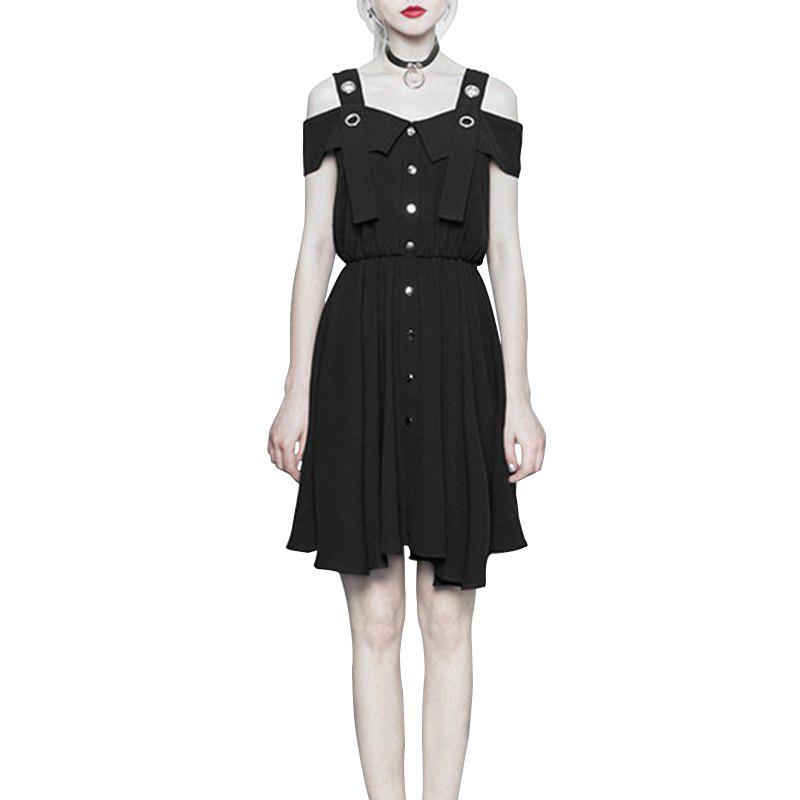 Outfit Fashion Suspenders Chiffon Dress for Women