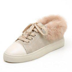 Hair Lounge Leisure Lace Warm Cotton Shoes -
