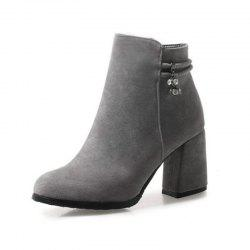 Round Head with High Heel Sexy Women'S Boots -
