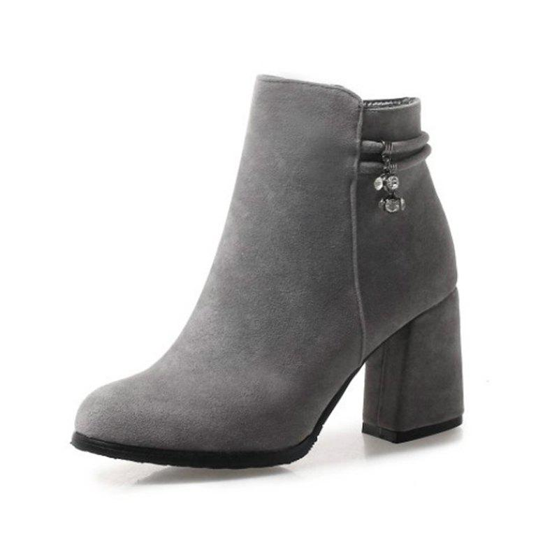 Buy Round Head with High Heel Sexy Women'S Boots