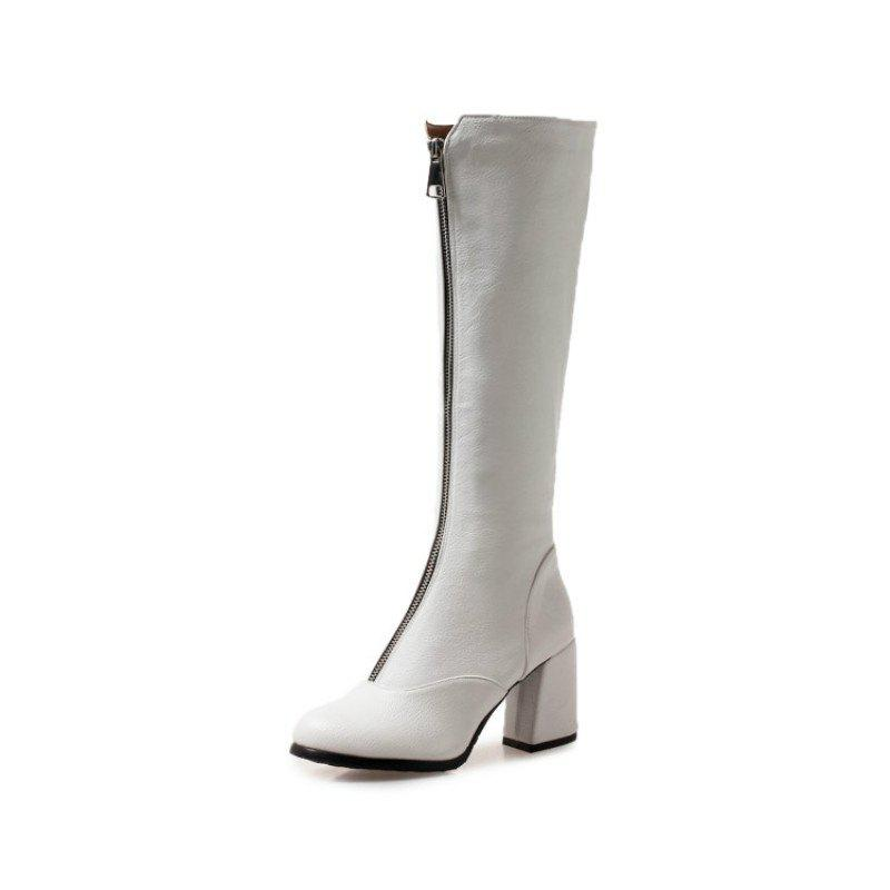 Store Round Head Rough and High Heeled Sexy Boots