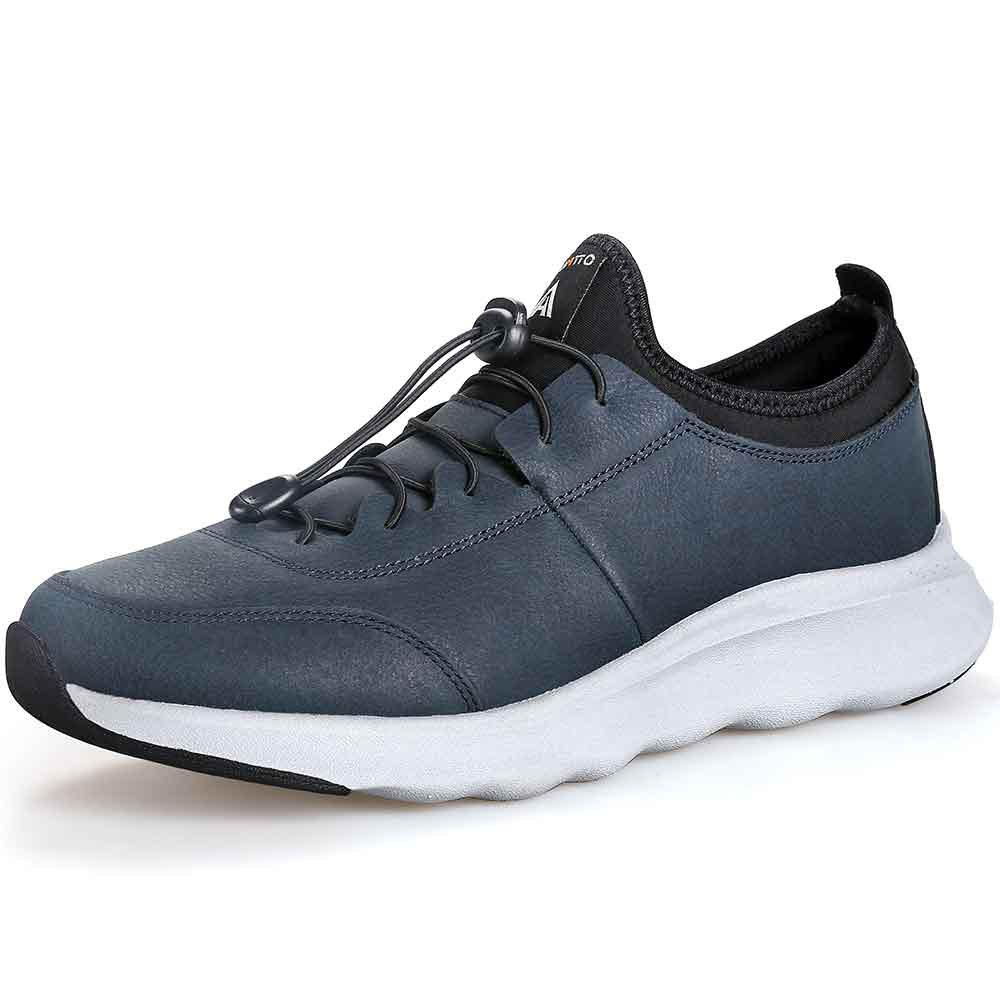 Cheap HUMTTO Running Shoes Men Outdoor Breathable Lace-Up Jogging Shoes