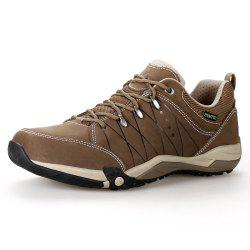 HUMTTO Mens Walking Shoes Lace-Up Traveling Camping Leather Low Sports Shoes -