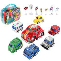 JS6930 Alloy 6 Cars et 1 Cart Cart Gift Box - Multi 1PC
