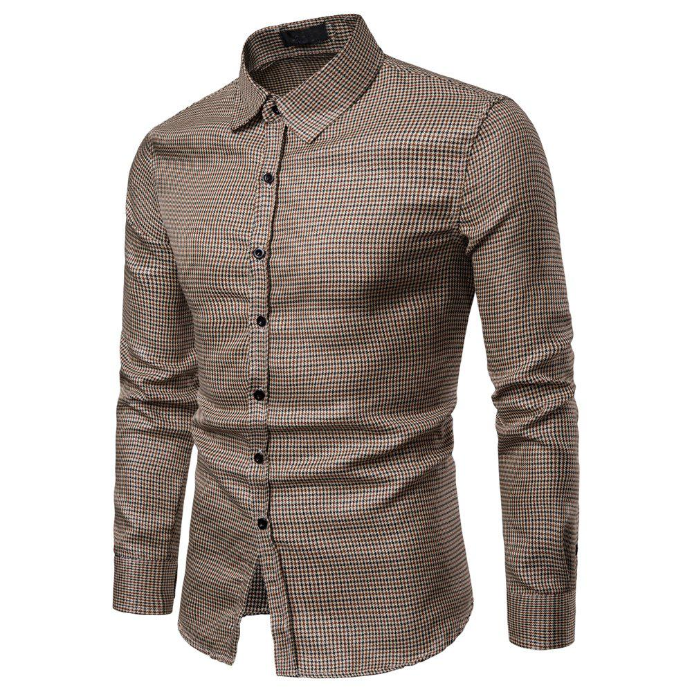 Online Men's  Casual Striped Fashion Long Sleeve Shirt