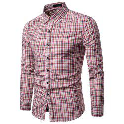 Men's  Business Casual Color Stripe Fashion Long Sleeve Shirt -