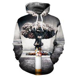 New Fashion Casual 3D Printing Smoke Hoodie -