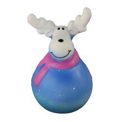 Squishy Slow Rebound Blue Christmas Elk Toys -