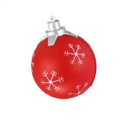 Squishy Red Snowflake Bomb Toy -