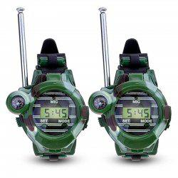 2pcs enfants parent montre-bracelet talkie-walkie enfants interphone jouet en plein air -