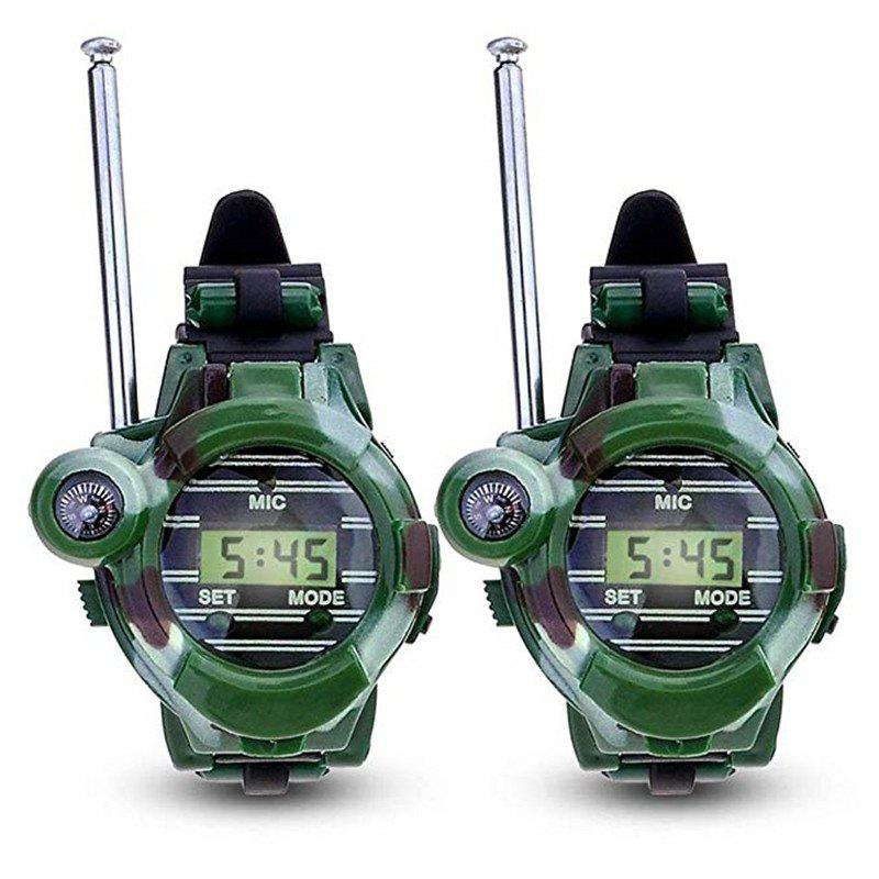 2pcs enfants parent montre-bracelet talkie-walkie enfants interphone jouet en plein air