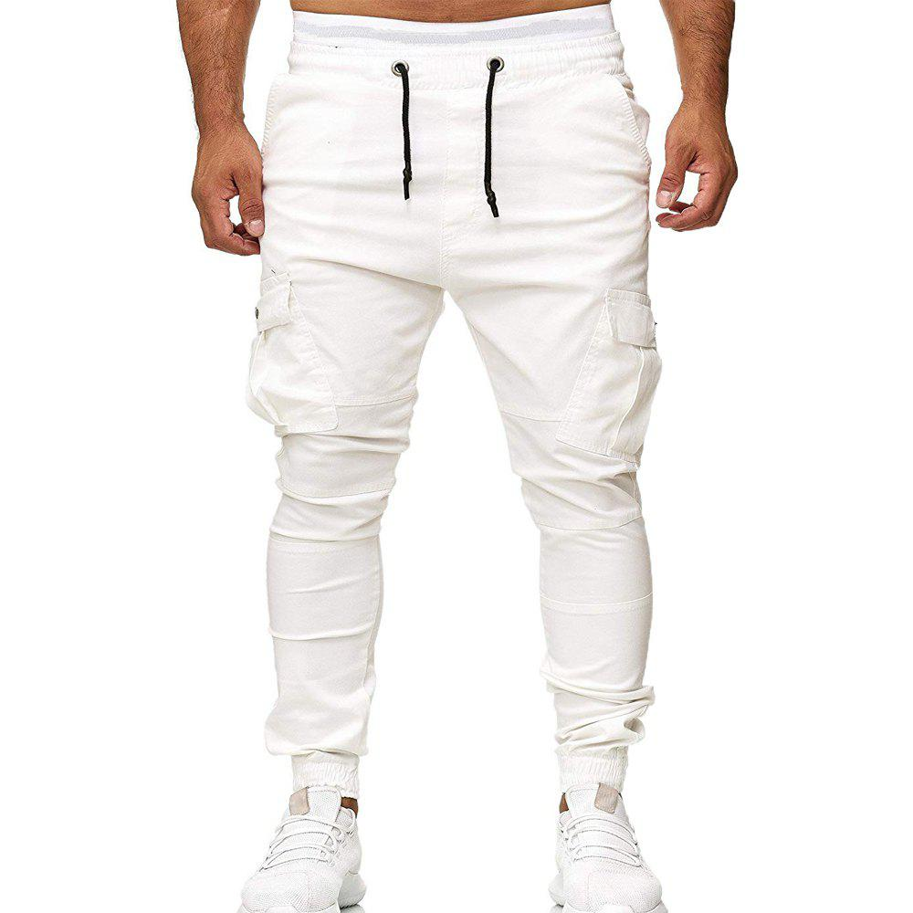 Fancy Stick Pockets Men's Tether Elastic Sports Casual Pants