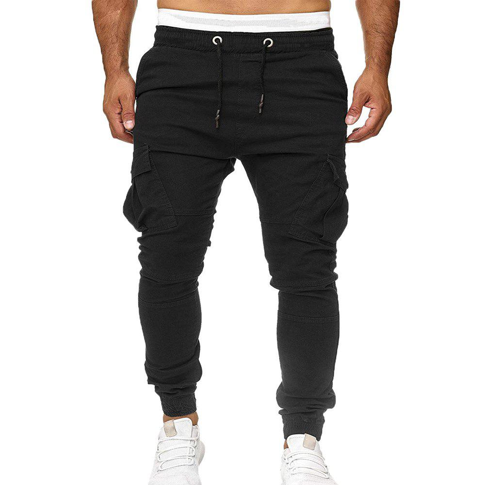 Buy Stick Pockets Men's Tether Elastic Sports Casual Pants