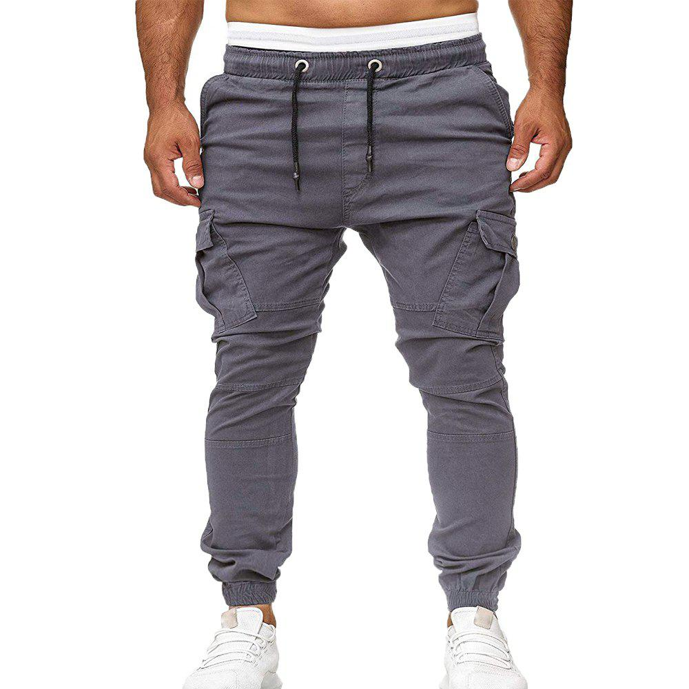 Outfit Stick Pockets Men's Tether Elastic Sports Casual Pants