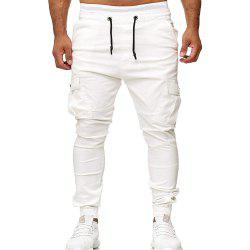 Three-dimensional Cutting Stick Pockets Men's Casual Sweatpants Tights -