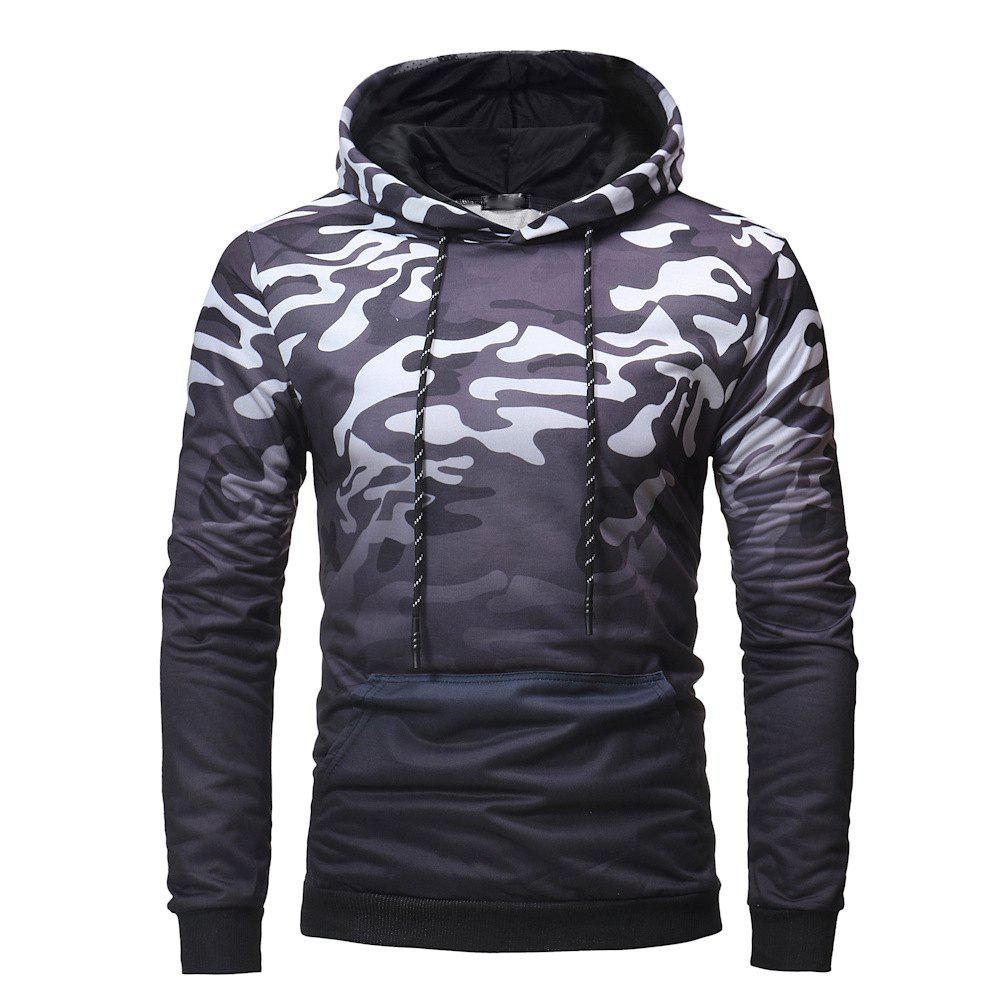 Store Men's Fashion Gradient Color Camouflage Leisure Wild Hoodie Sweater