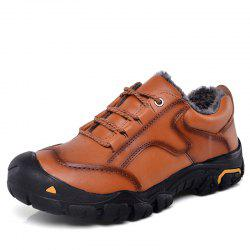 Men Low-Cut Plus Cotton Warm Wear-Resistant Non-Slip Outdoor Hiking Shoes -