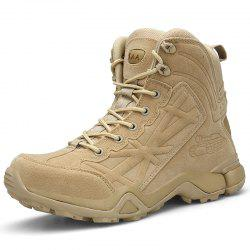 Men High-Top Non-Slip Wear-Resistant Comfort Cushioning Outdoor Military Boots -