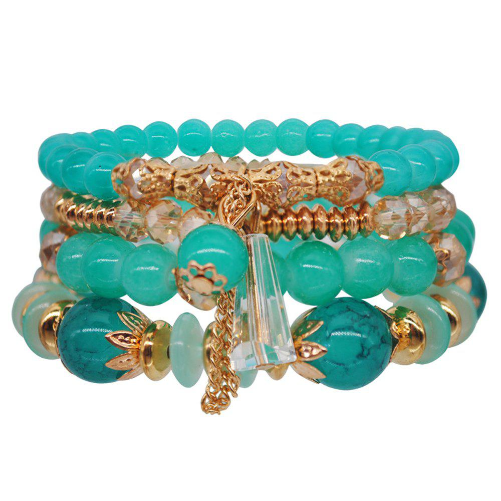 Bohemia Ocean Style Original Design Multilayer String Beads Crystal Bracelet