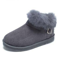 ADDA Autumn and Winter Plus Velour High Shoes Snow Boots Cotton Shoes Real Rabbi -