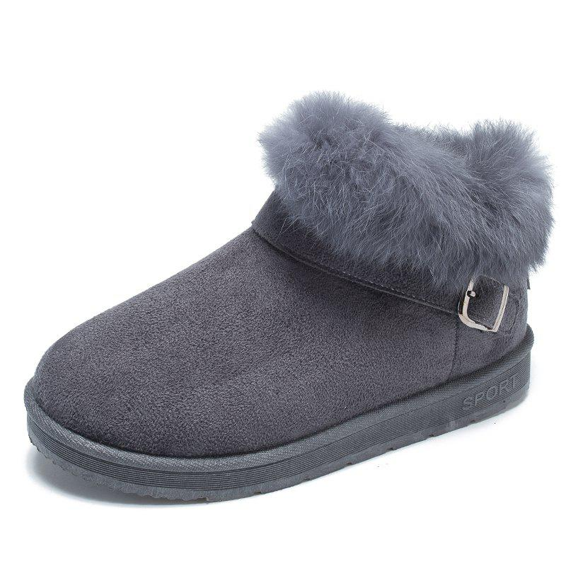 Best ADDA Autumn and Winter Plus Velour High Shoes Snow Boots Cotton Shoes Real Rabbi