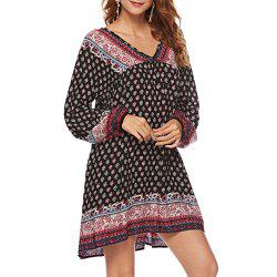 Automne Impression Loisirs Robe Lâche -