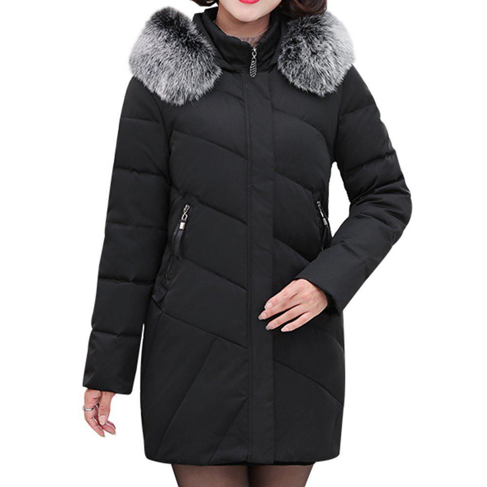 Shop 2018 Winter Jacket Women Clothing Middle and Old Aged Cotton Jacket