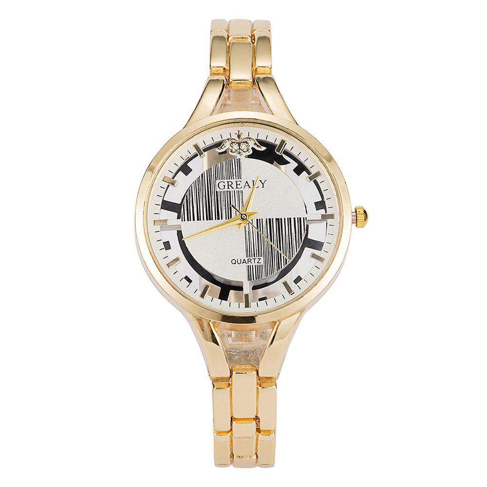 GREALYLadies' Personality Alloy Bracelet Table Geometric Figure decorative Watch